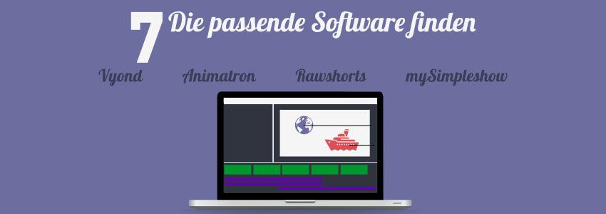 Erklärvideo erstellen - Software