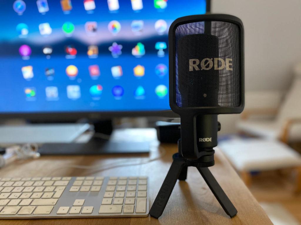 Rode NT-USB als externes Mikro.