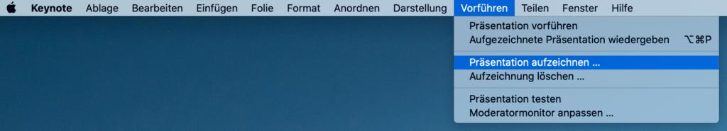 Screencast erstellen: Bildschirm aufnehmen mit Apple´s Keynote.
