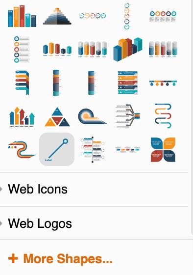 Diagrams-net Button more Shapes