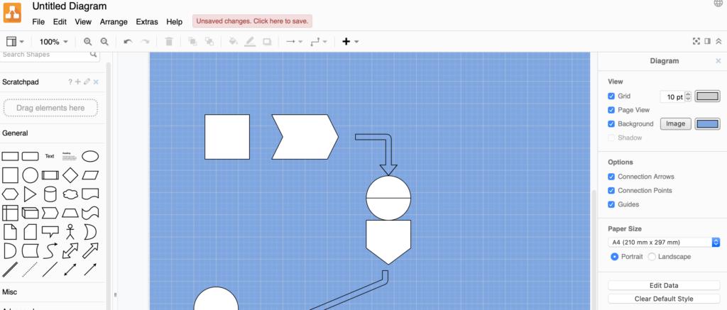 Schaubild erstellen mit diagrams.net