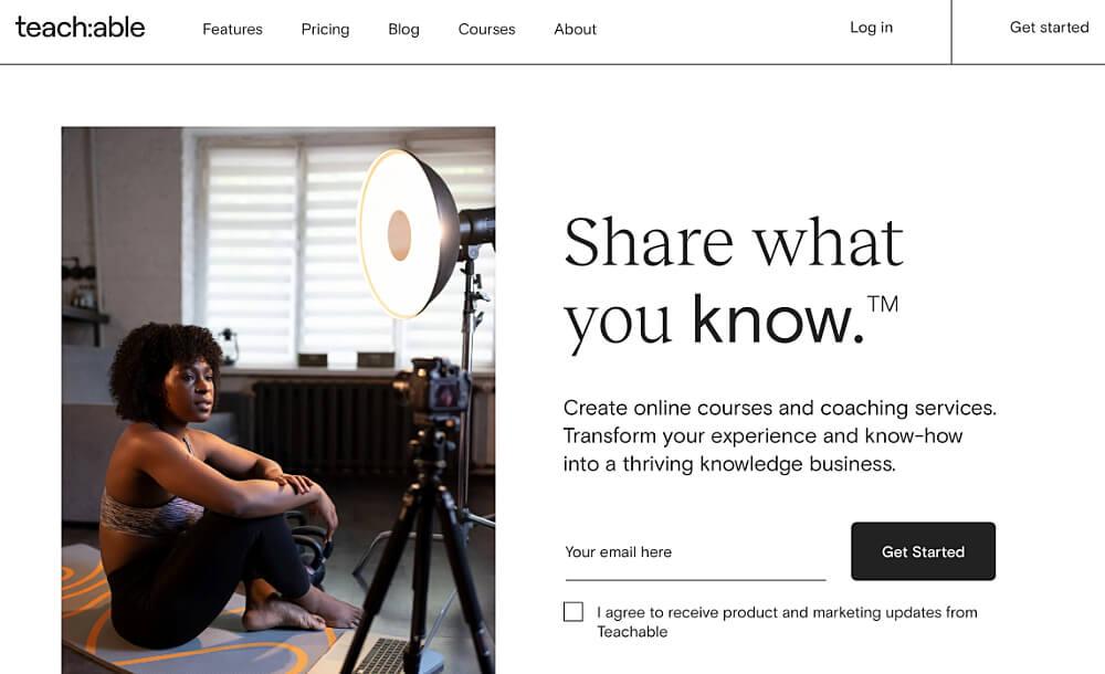 amerikanische online kurs plattform teachable