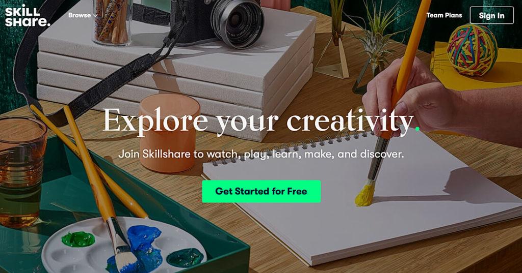 Skillshare online kurs marktplatz